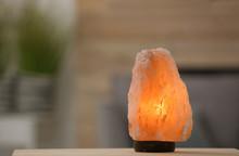 Himalayan Salt Lamp On Table A...