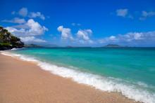 Lanai Beach On Oahu, Hawaii