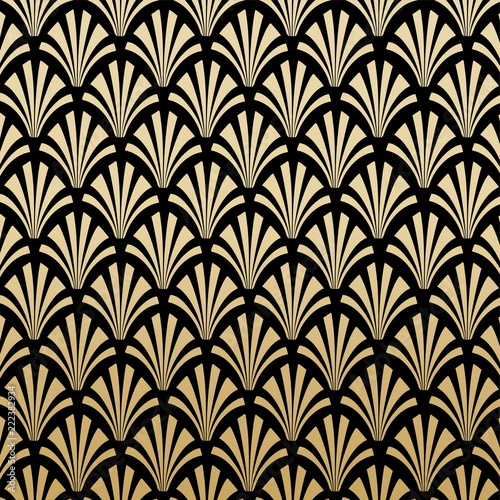 Geometric Art Deco Pattern Background Design