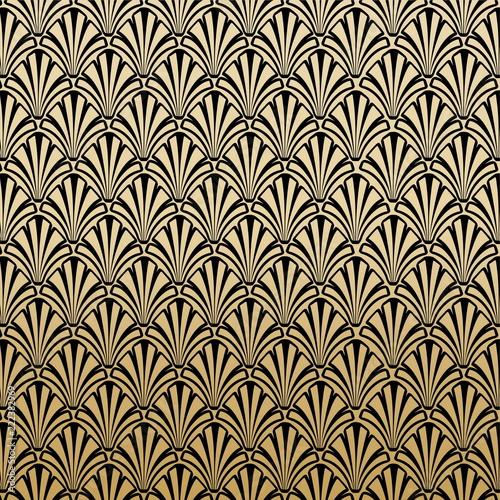 Floral Gatsby Art Deco Pattern Background Design
