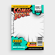 Comic Book Page Cover Design C...