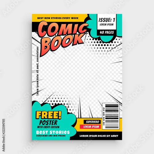 Fototapeta  comic book page cover design concept