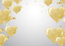 Big Gold Heart Metallic Balloo...