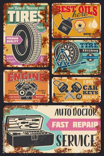 Plakaty stare samochody   samochodowe-auto-diagnostyczne-centrum-serwisowe-plakaty-rdzy