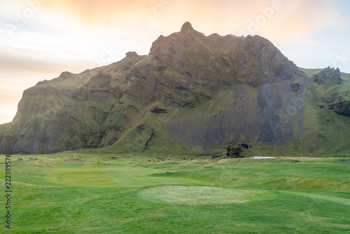 Poster Cote Iceland landscape and nature in summer