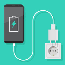 Smartphone Charger Adapter Vec...