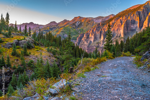 Photo Stands Blue jeans Beautiful Sunset Fall Hike in Telluride, Colorado