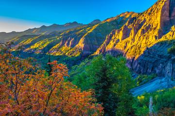 Panel Szklany Do salonu Beautiful Fall Sunset Hike in Telluride, Colorado