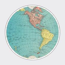 Western Hemisphere, World Atlas By Rand, McNally And Co. (1908) Digitally Enhanced By Rawpixel.