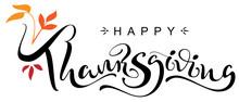 Happy Thanksgiving Day Handwri...