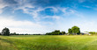 Leinwandbild Motiv Panorama of rural field