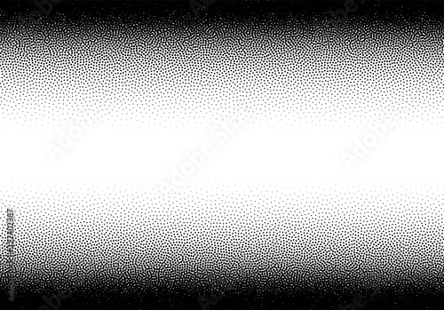 Obraz Dotwork gradient background, black and white scattered stipple dots - fototapety do salonu