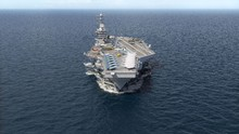 Aircraft Carrier Crossing The ...