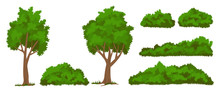 Vector Trees And Bushes Set