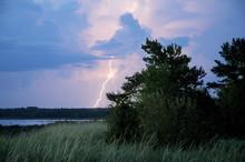 Lightning Bolt Striking The Gr...