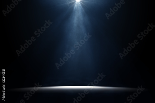 Aluminium Prints Light, shadow moody stage light background
