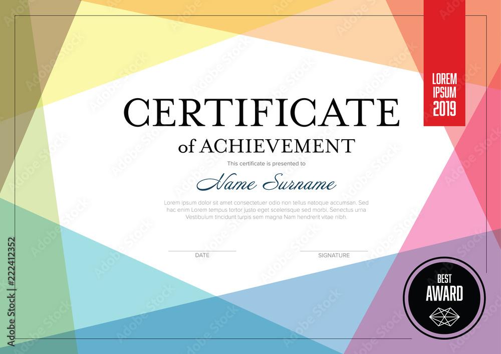 Fototapety, obrazy: Modern certificate template