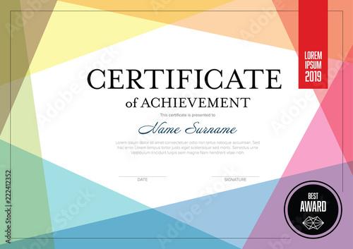 Obraz Modern certificate template - fototapety do salonu