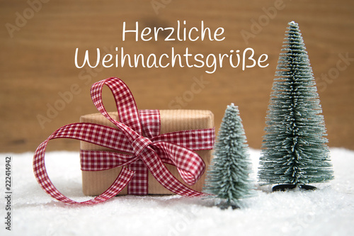 Herzliche Weihnachtswünsche.Weihnachtskarte Herzliche Weihnachtsgrüße Buy This Stock Photo And
