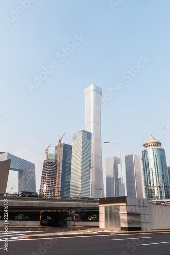 Poster Stad gebouw Beijing CBD, China