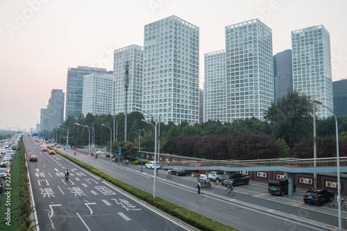 Poster Stad gebouw Beijing City Road, China