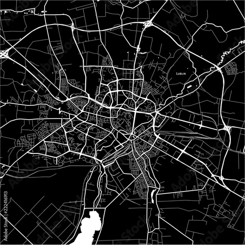 Fotomural Area map of Lublin, Poland
