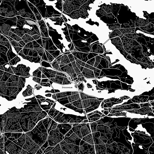 Fototapeta Area map of Stockholm, Sweden