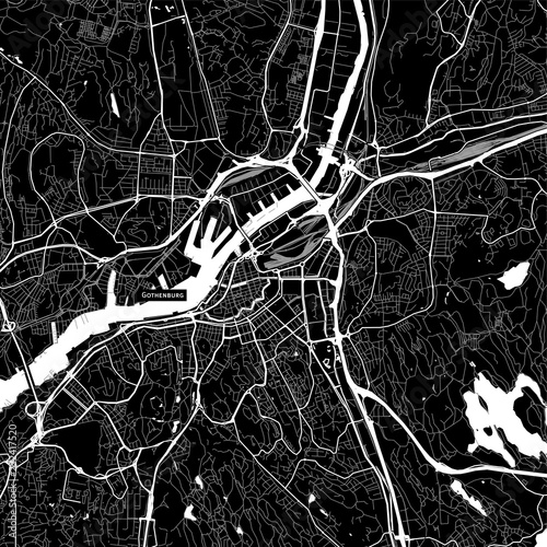 Fotografie, Obraz Area map of Gothenburg, Sweden