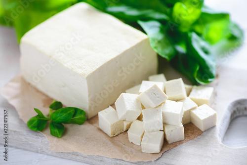 soy cheese tofu Canvas Print