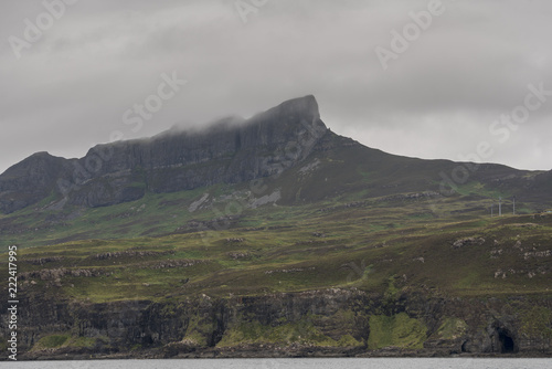 Spoed Foto op Canvas Bleke violet Landscape image of the Isle of Eigg in the Inner Hebrides of Scotland
