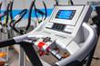 Close up of treadmill control panel.
