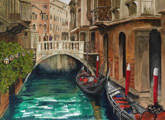 FototapetaBeautiful view of venetian canal