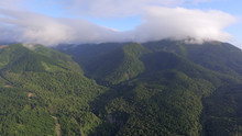 Amberley At Sunrise Green Mountains In The Clouds