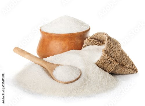 Fotografie, Obraz  Sugar isolated on white