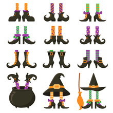 Scary Witch Legs. Halloween Wi...