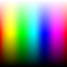 Color Picker Guide With Transitions From Black To White.