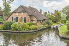 Thatched Roof House In Giethoo...