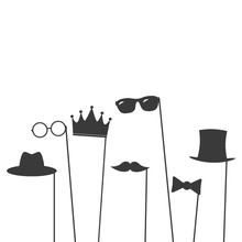 Glasses, Crown, Mustaches, Hat...