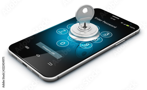 Smartphone or mobile phone security concept © Scanrail