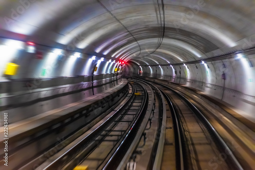 Subway metro underground tube tunnel Canvas