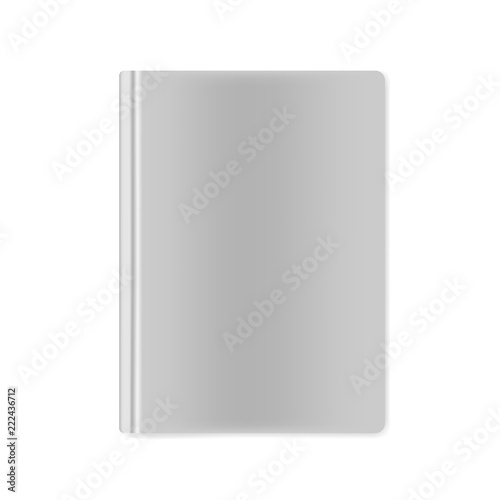 Closed hardcover book blank front top view, vector mockup Slika na platnu