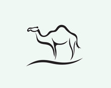 Stand Line Art Camel Logo