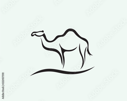 Photo Stand line art camel logo