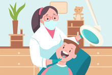 Child In A Dental Office. Doct...
