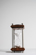 Hourglass, or sand clock isolated in white background.