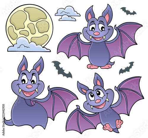 Spoed Foto op Canvas Voor kinderen Bats theme collection 1