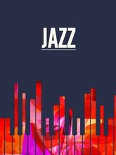 Jazz Music Background With Col...