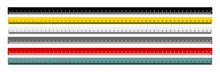 Set Of Measure Tape Ruler Metr...
