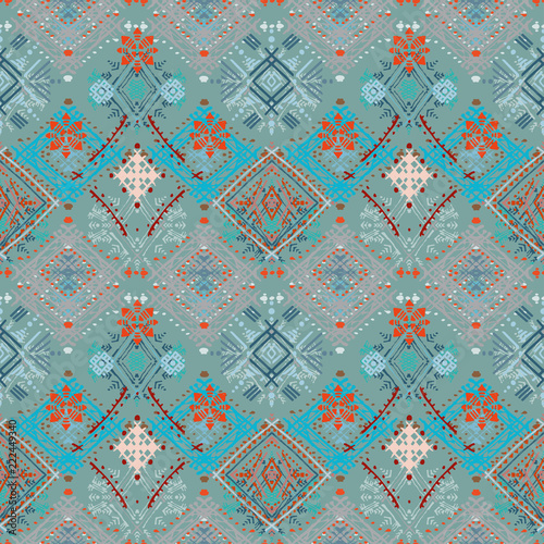 Photo Abstract ethnic seamless pattern