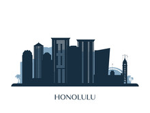 Honolulu Skyline, Monochrome S...